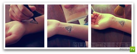 Как сделать однодневную татуировку (10 фото)