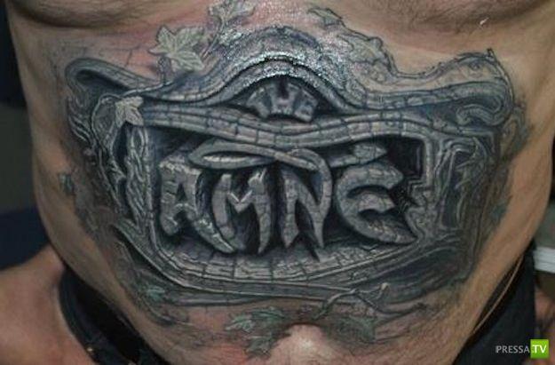 Ужасные и просто страшные татуировки (19 фото)