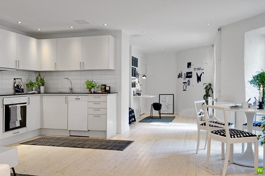 Шведское жилье. Cкромная шведская квартира, 48 квадратов (24 фото)