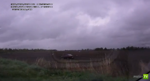 Пьяный дебил слетел с дороги, хорошо других не задел... ДТП в Новгородской области