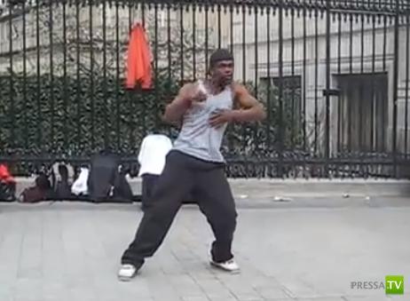 Невероятный танец уличного танцора (видео)