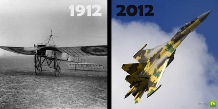 Как изменился мир за 100 лет (12 фото)