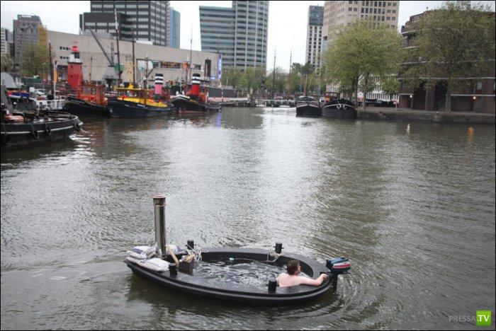 Супер-отдых на реке (8 фото)