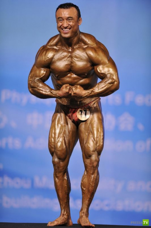 46-й Чемпионат Азии по бодибилдингу и физической культуре в Китае (18 фото)