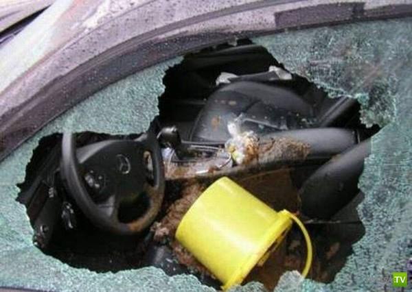 Месть автомобилистам (5 фото)