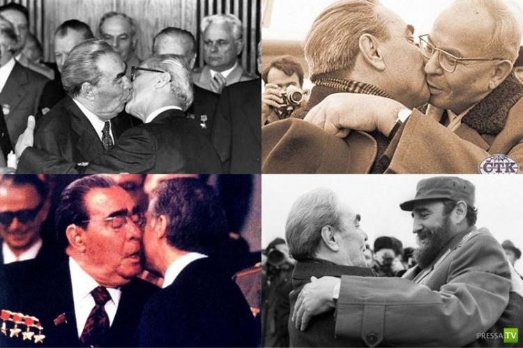 О поцелуях Брежнева (11 фото)