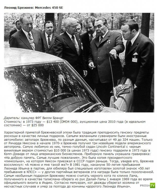 Что дарили главам нашего государства (8 фото)