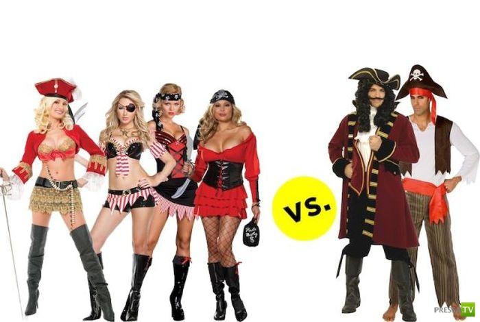 Забавная коллекция мужских и женских костюмов для ролевых игр (22 фото)