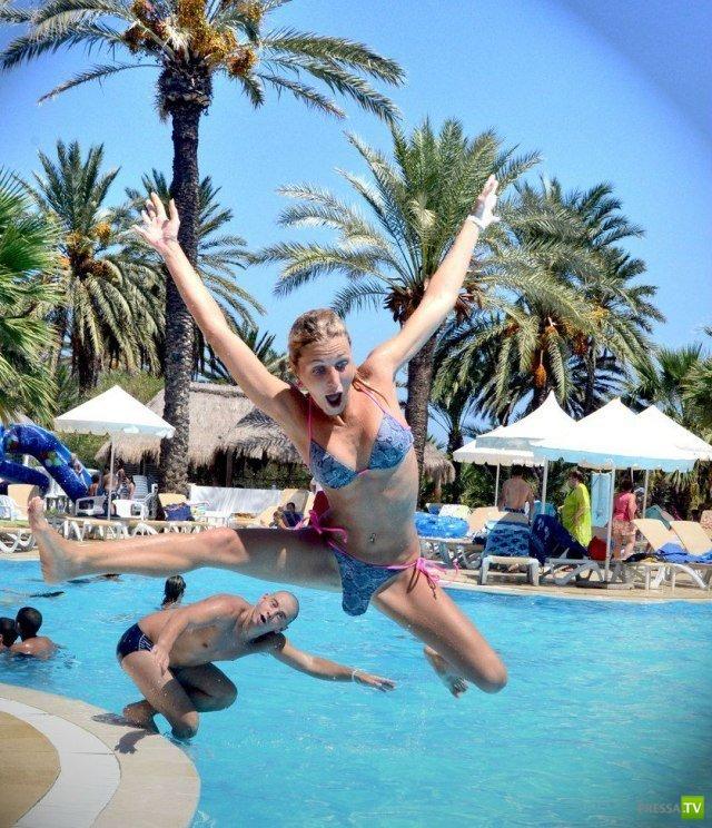 Фотожаба на одну фотографию - прыгающая девушка (19 фото)