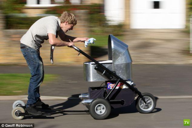 Самая быстрая коляска в мире способна разогнаться до 80 км/ч (5 фото + видео)