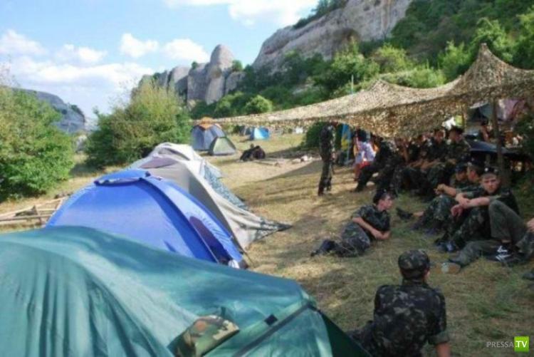 Детский лагерь с военным уклоном в Крыму (20 фото)