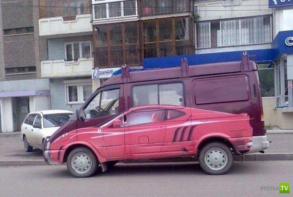 Забавные авто-приколы (30 фото)