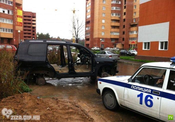 Скоростное ограбление авто в Ульяновске (9 фото)
