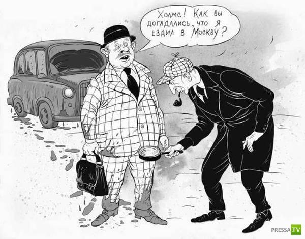 Веселые карикатуры, часть 6 (18 фото)