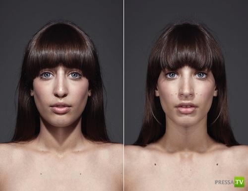 Если бы лица были идеально-симметричными (12 фото)