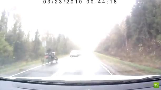 Велосипедист спровоцировал аварию... Лобовое столкновение в Ярославской области