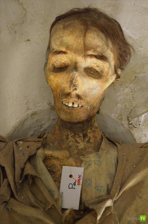 Погребальные катакомбы в Палермо, слабонервным не читать (Италия) (14 фото)