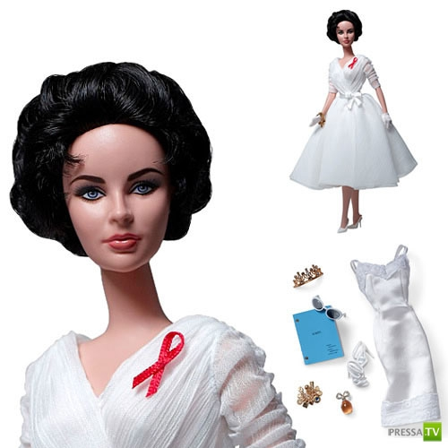 Барби с лицом Элизабет Тейлор (3 фото)
