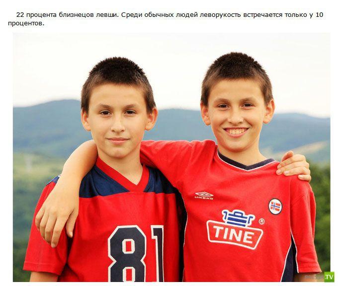 Необычное и интересное о близнецах (22 фото)