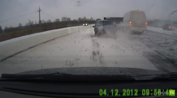 Не справился с управлением и столкнулся с УАЗ на встречке... ДТП на трассе Нижний Новгород - Касимов