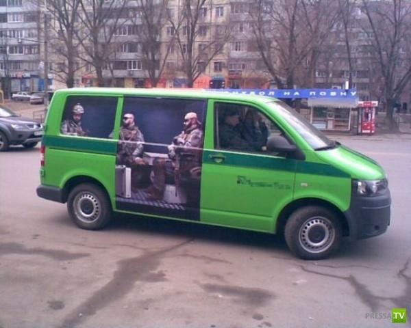 Украинские инкассаторы очень креативны (4 фото)