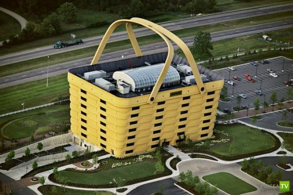 Офис в форме корзины (6 фото)