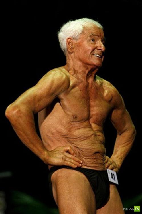 80-летний Ray Moon - самый старый бодибилдер в мире (9 фото)