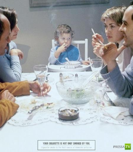 Действенная реклама против курения (13 фото)