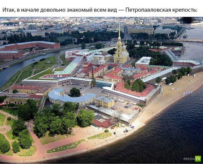 Санкт-Петербург с высоты птичьего полета (17 фото)