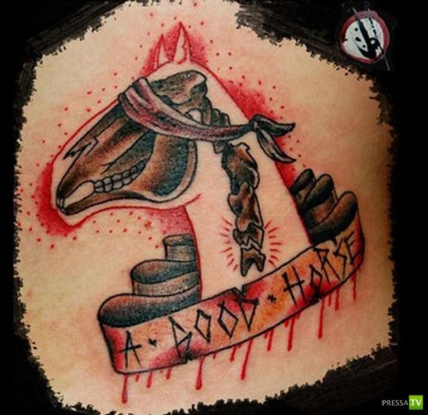 Высокохудожественные татуировки (55 фото)