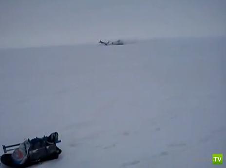 ЯК упал на лед Волги недалеко от Тольятти...