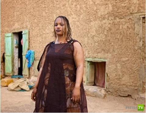 В Мавритании худая девушка - позор родителям (3 фото)