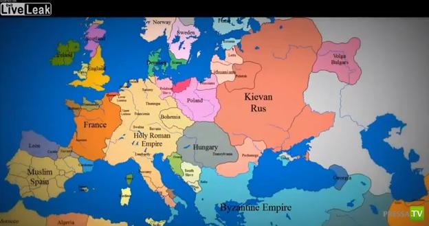 История Европы за 3 минуты (видео)