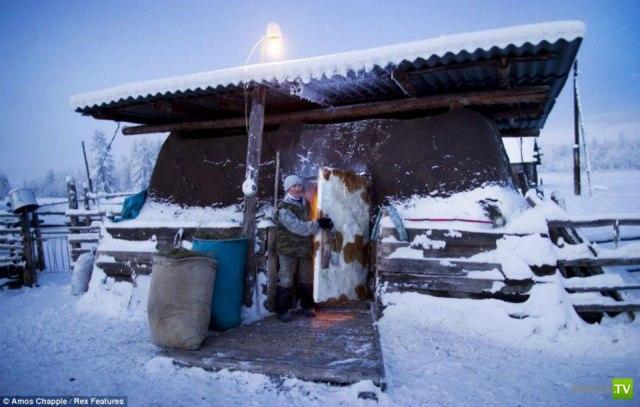 Самый холодный населенный пункт в мире - село Оймякон (11 фото)