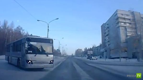 Внезапное столкновение с автобусом... ДТП в Усть-Илимске