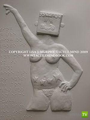 Книга Tactile Mind - порно-книга для слепых (17 фото)