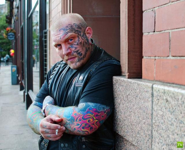 Экстремальные татуировки (80 фото)