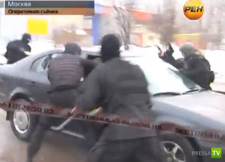 Бойцы спецназа обезвредили банду, которая пыталась похитить коммерсанта... Москва