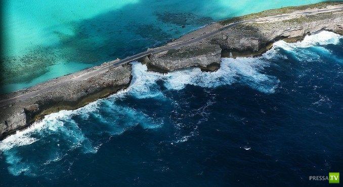 Остров Эльютера - один из Багамских островов между Карибским морем и Атлантическим океаном (6 фото)