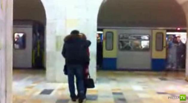 Призрак в Московском метро. Станция Авиамоторная (видео)
