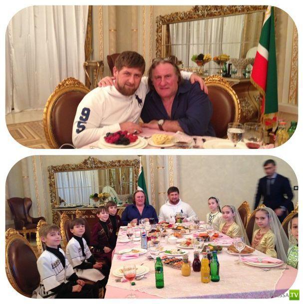 Жерар Депардье посетил Грозный... (4 фото + видео))