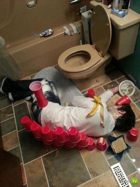 Не пейте много! Жесткие приколы друзей над пьяными (50 фото)