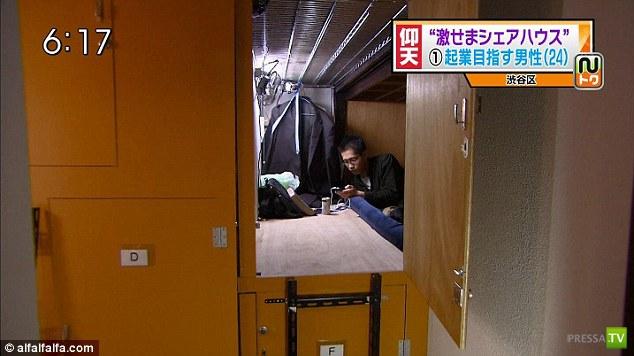 Шкаф или коробка - жилье в Японии (7 фото)