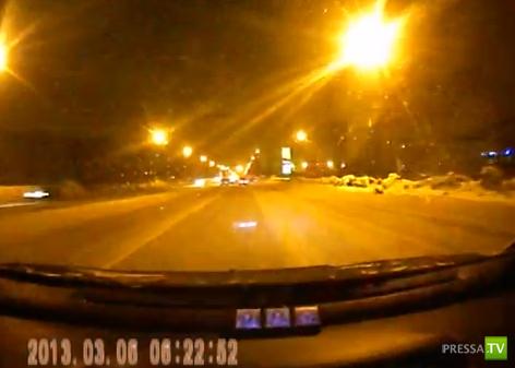 Лобовое столкновение ВАЗ-2110 и Geely на Копейском шоссе в Челябинске...