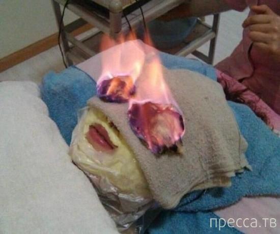 Красота требует жертв - огненные процедуры (5 фото)