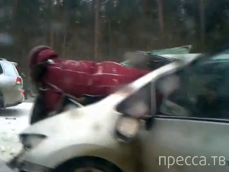 """Погибла женщина... Лобовое столкновение """"Лексуса"""" и """"Тойоты"""" на трассе Брянск-Москва. Жесть!!!"""