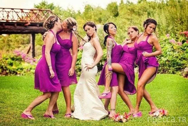 Прикольные свадебные фотографии (30 фото)