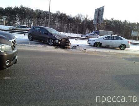 Авария с участием трех машин в Красногорске Московской об.