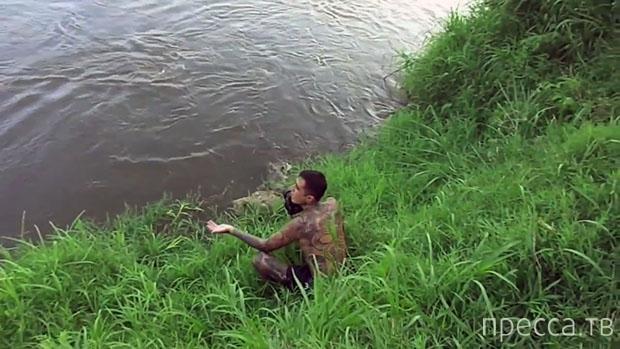 Опасная фотосессия крокодила... (фото + видео)