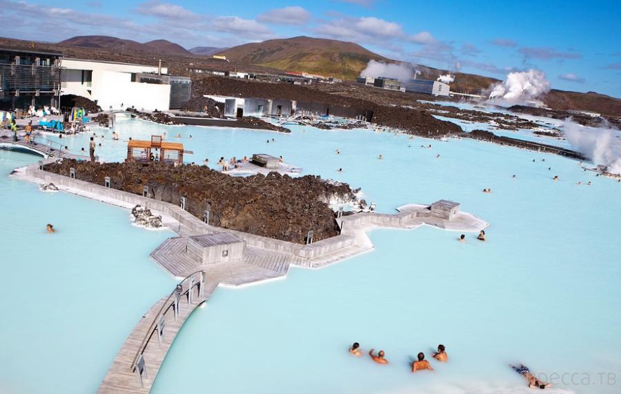 Голубая лагуна (Blue Lagoon) - известный геотермальный курорт Исландии (28 фото)